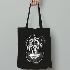 tote bag noir sérigraphie