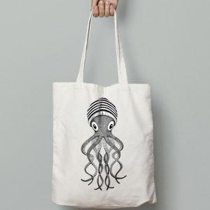 illustration pieuvre tote-bag