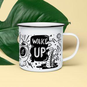 tasse acier émaillé cafe incassable