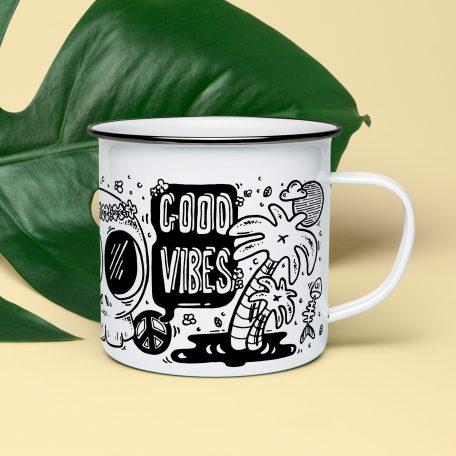 tasse acier emaillé thé mug