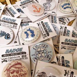 salon tatouage badges