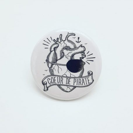 badge coeur de pirate