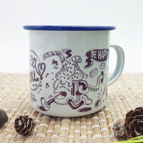 tasse émaillée vintage